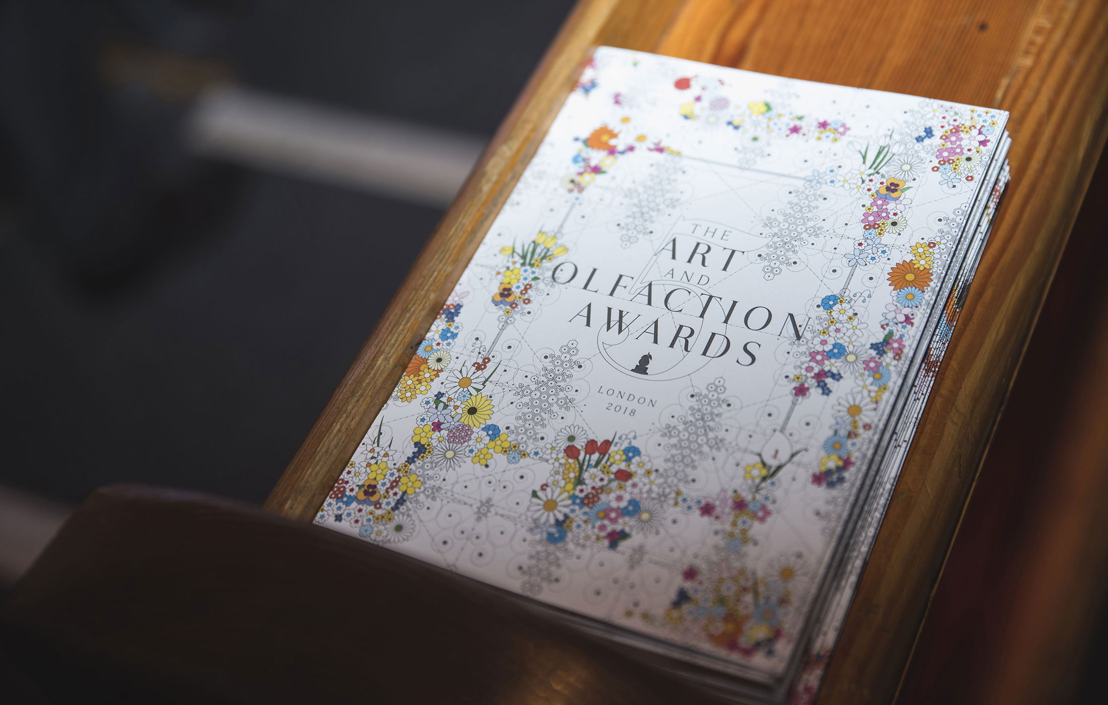 The Art and Olfaction Awards design by Micah Hahn, Photo by Marina Chichi