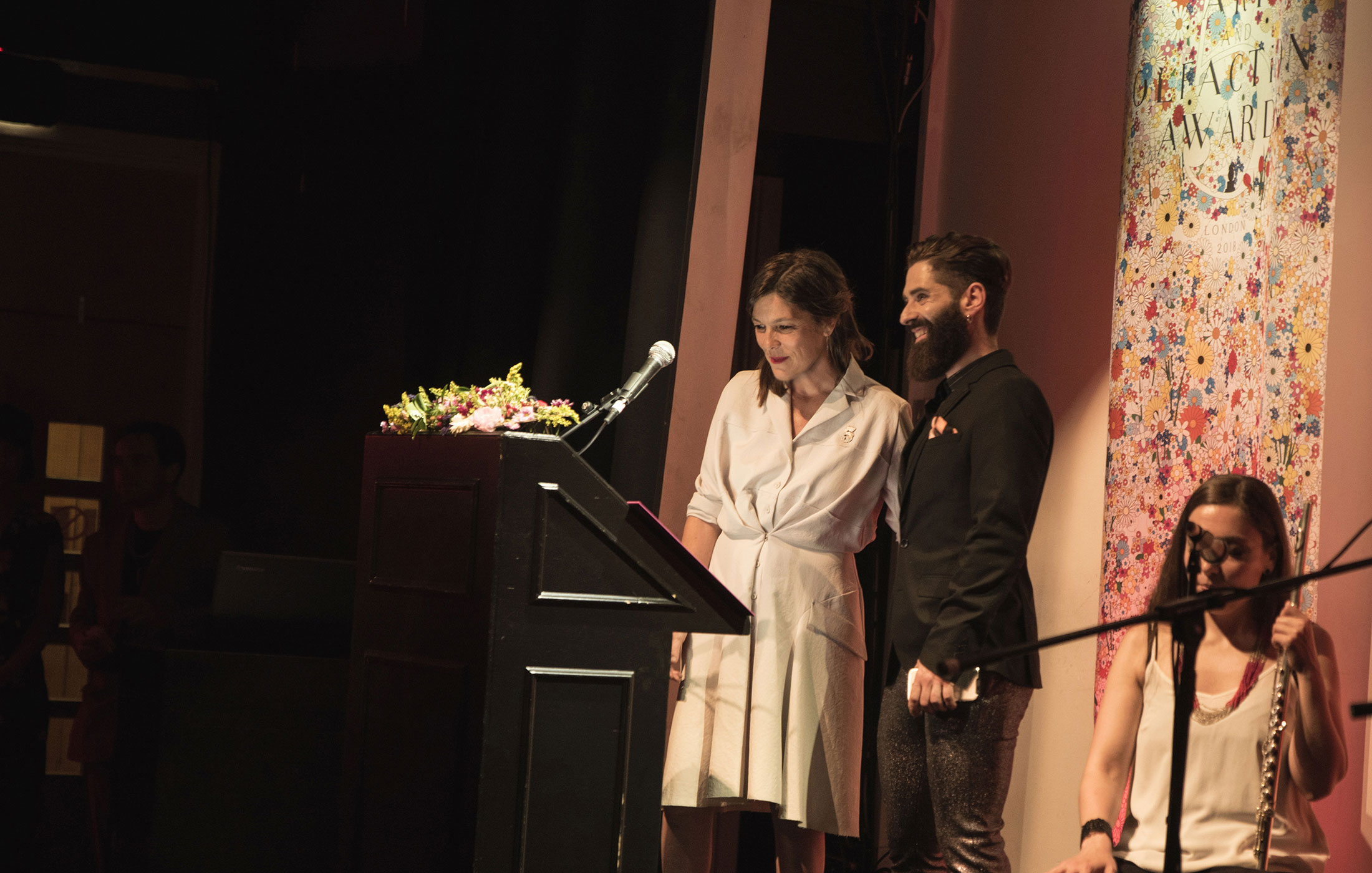 Saskia Wilson-Brown, Miguel Matos at The Art and Olfaction Awards, Photo by Marina Chichi