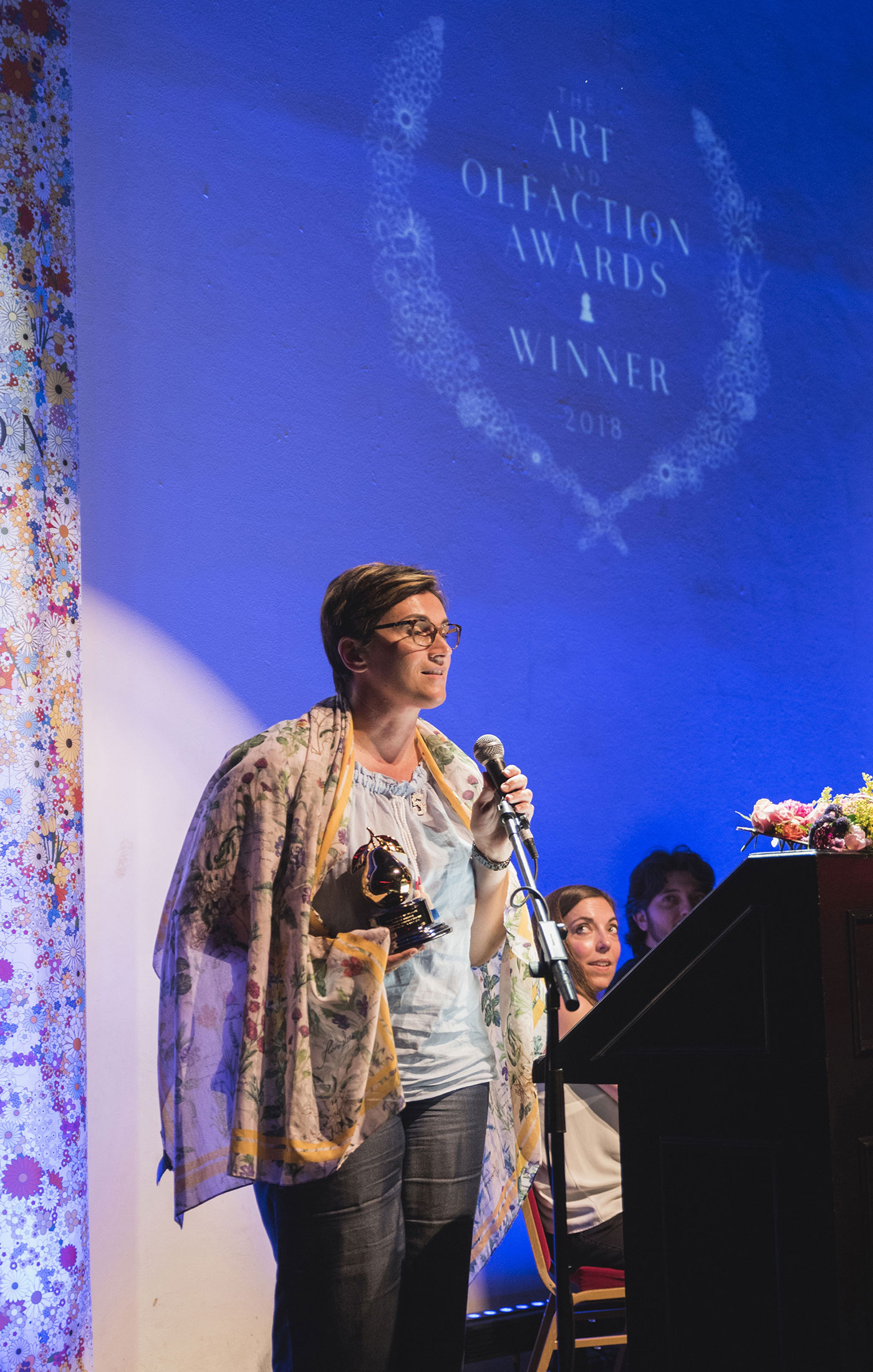 Virginie Roux, at The Art and Olfaction Awards, Photo by Marina Chichi