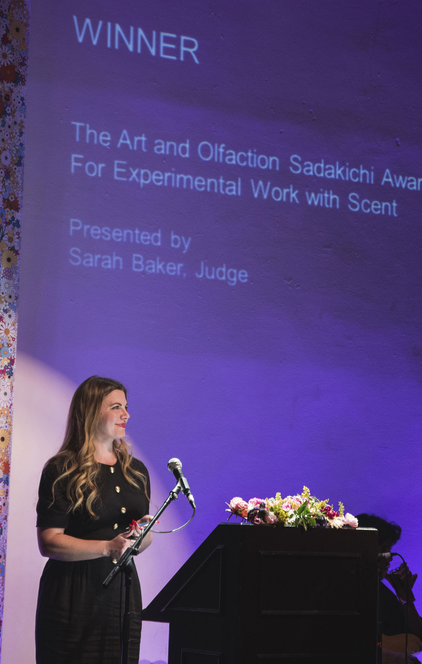 Sarah Baker at The Art and Olfaction Awards, Photo by Marina Chichi