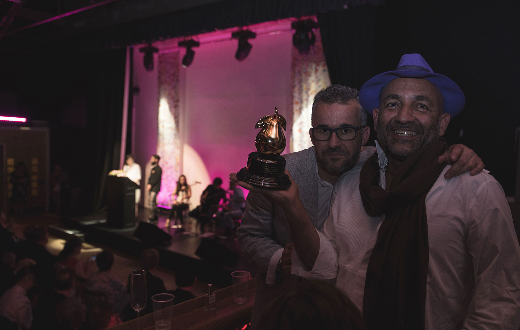 Oswaldo Macià and Ricardo Moya at The Art and Olfaction Awards, Photo by Marina Chichi