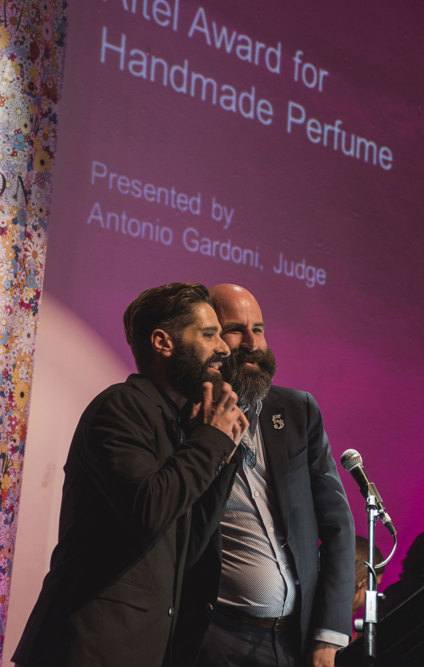 Miguel Matos and Antonio Gardoni at The Art and Olfaction Awards, Photo by Marina Chichi