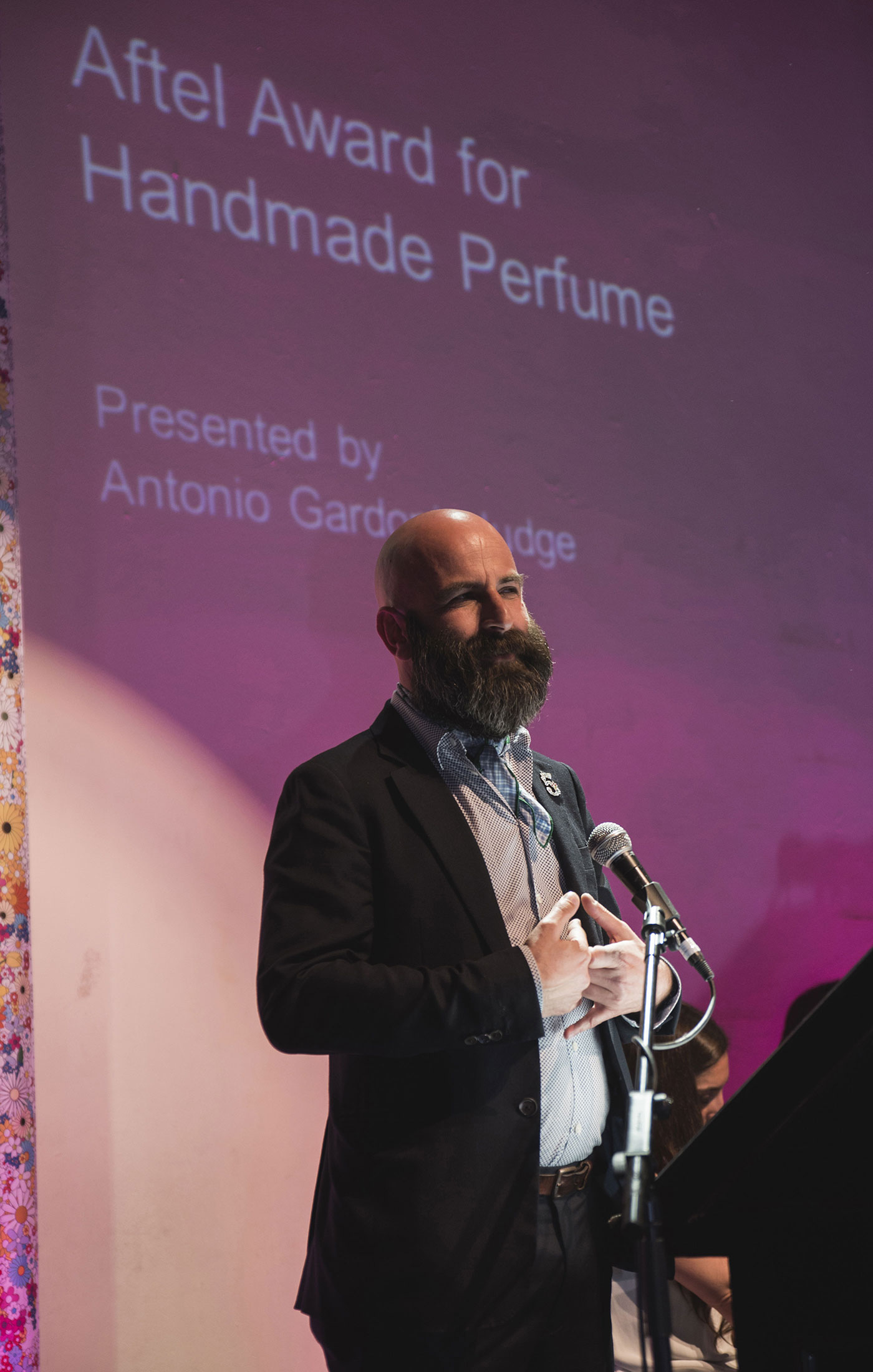 Antonio Gardoni at The Art and Olfaction Awards, Photo by Marina Chichi