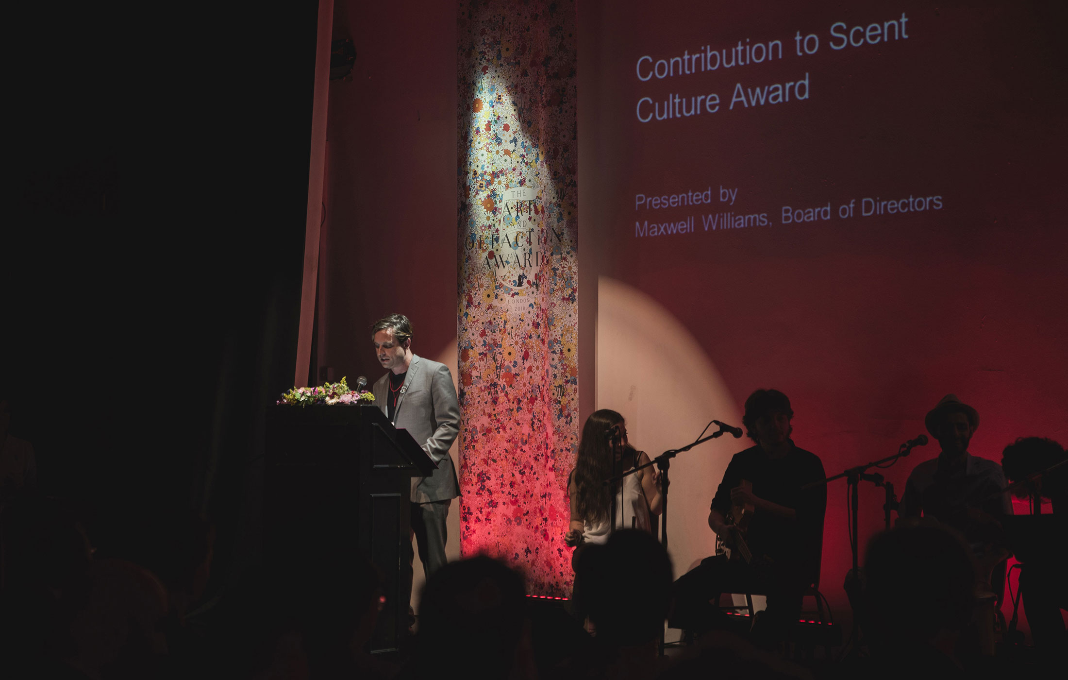 Maxwell Williams at The Art and Olfaction Awards, Photo by Marina Chichi