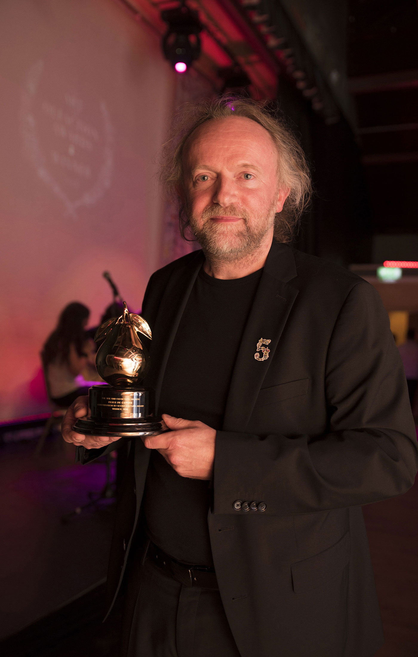 Peter de Cuper at the Art and Olfaction Awards, Photo by Marina Chichi